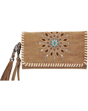 Blazin Roxx Women's Stella Fringe Wallet , Brown, hi-res