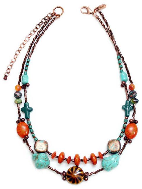 Treska Women's Santa Fe 2-Row Beaded Necklace , Multi, hi-res