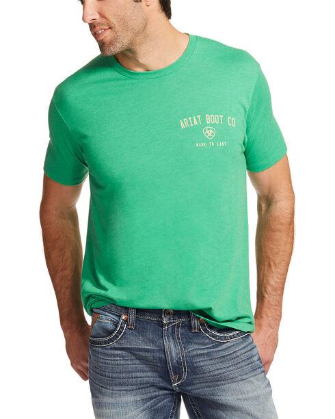 Ariat Men's Kelly Green Boot Co. T-Shirt , Kelly Green, hi-res