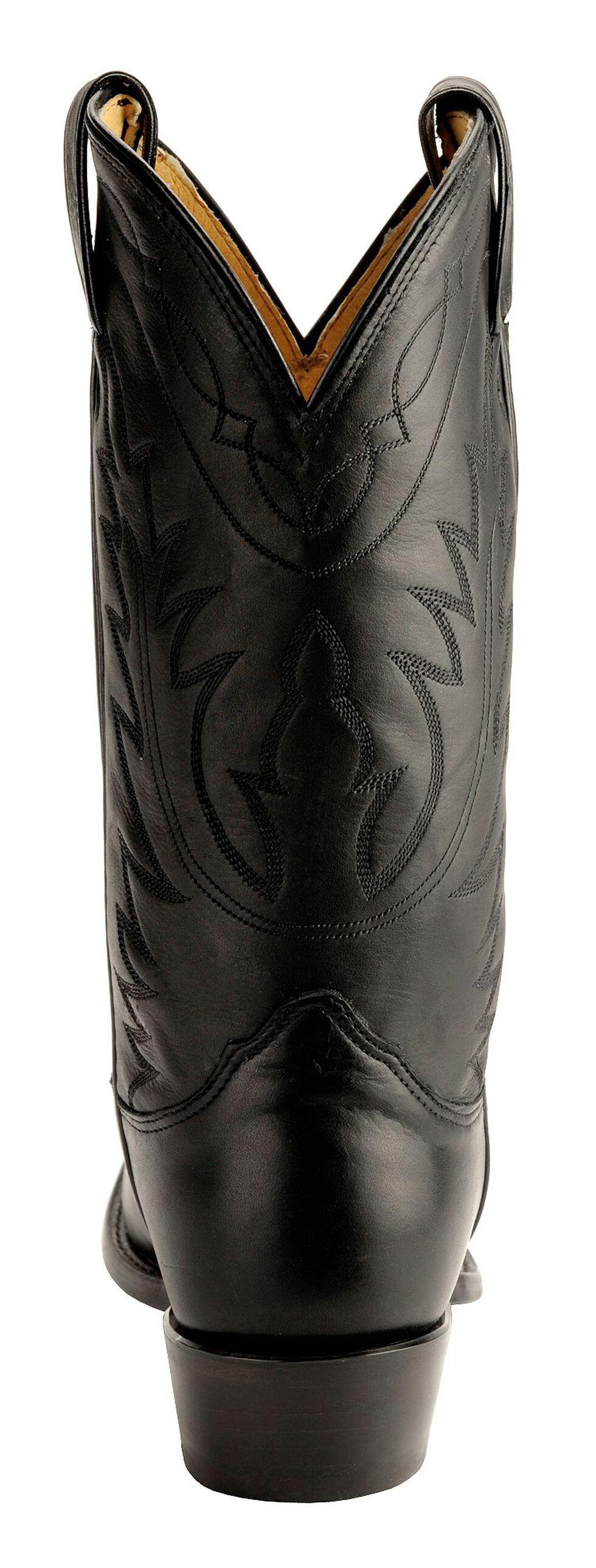 Nocona Deertan Cowboy Boots - Medium Toe, Black, hi-res