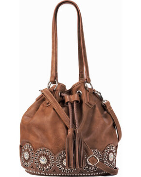 Blazin Roxx Women's Rhianna Conceal Carry Bucket Bag , Brown, hi-res