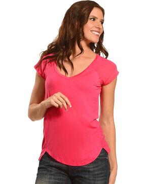 Derek Heart Women's Lace Short Sleeve Shirt, , hi-res