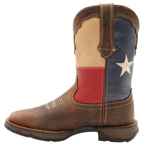 Durango Lady Rebel Texas Flag Cowgirl Boots - Square Toe, Brown, hi-res