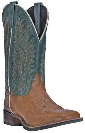 Laredo Cowboy Approved Jhase Cowboy Boots - Square Toe  , Tan, hi-res