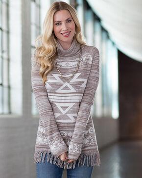 Ryan Michael Women's Funnel Neck Sweater, Tan, hi-res