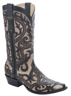 Corral Overlay Cowboy Boots - Snip Toe, , hi-res