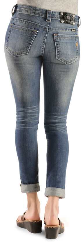 Miss Me Distressed Cuffed Skinny Jeans, Denim, hi-res