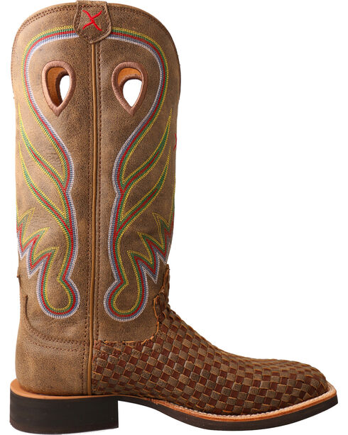 Twisted X Women's Ruff Stock Basketweave Cowgirl Boots - Square Toe, Brown, hi-res
