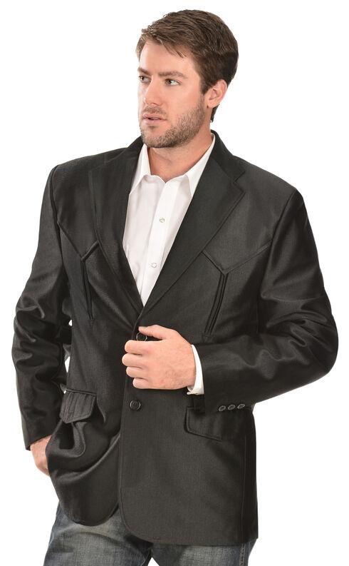 Domini Men's Western Blazer, Black, hi-res