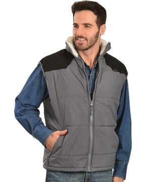 Wrangler Soft Shell Sherpa Collar Vest, Charcoal Grey, hi-res