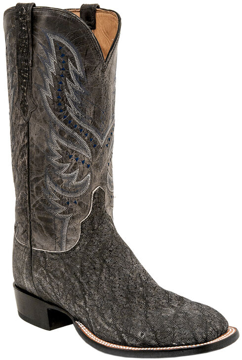 Lucchese Men's Handmade Cade Elephant Horseman Boots - Square Toe , Grey, hi-res