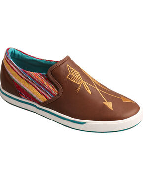 "Twisted X Women's ""Be Brave"" Casual Shoe - Round Toe, Brown, hi-res"