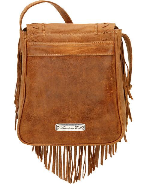 American West Seminole Collection Soft Fringe Crossbody Bag, Tan, hi-res