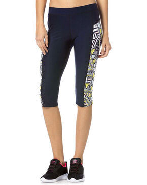 Miss Me Women's Geometric Active Capris, Multi, hi-res