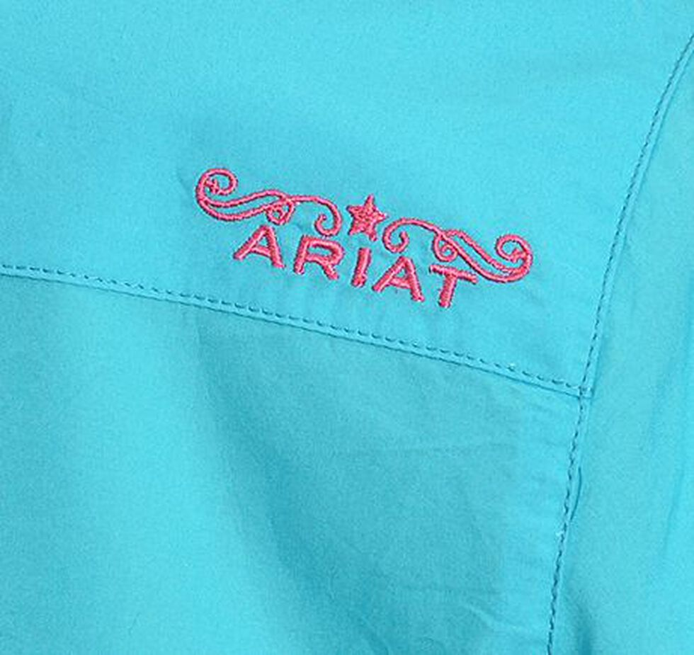 Ariat Turquoise Poplin Shirt, Turquoise, hi-res