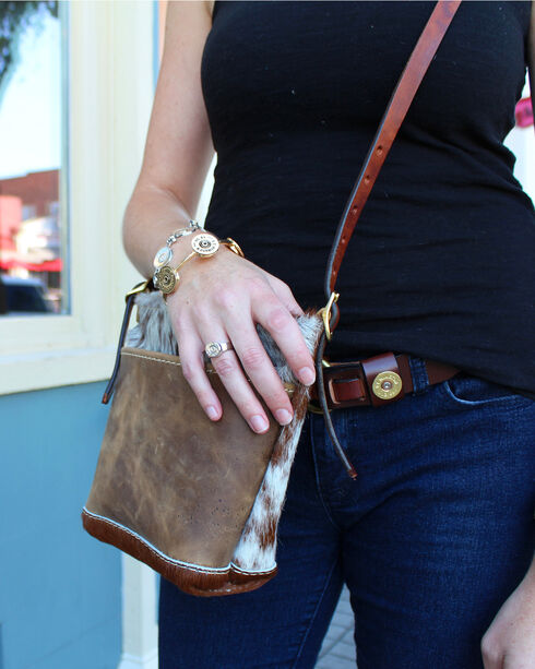 SouthLife Supply Women's Cowhide Mini Cross Body Bag, Multi, hi-res