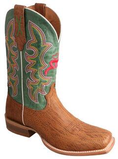 Twisted X Hooey Suntan Cowboy Boots - Square Toe, , hi-res