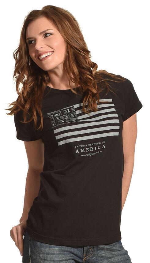 Jack Daniels Women's Black Jack Daniels & Stripes T-Shirt , Black, hi-res