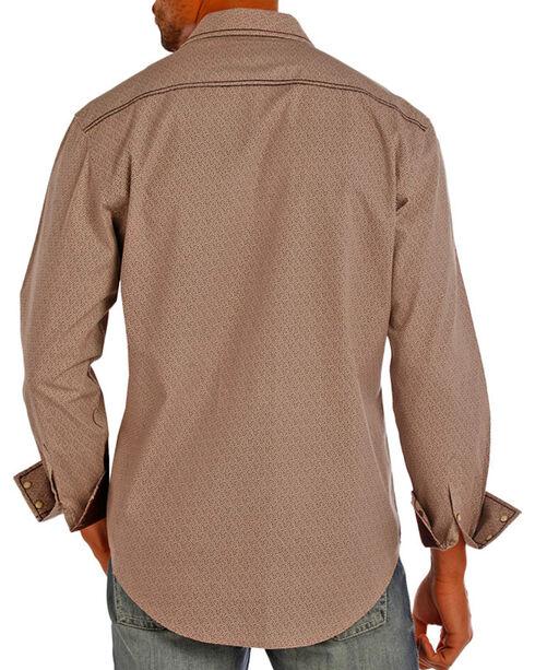 Rock & Roll Cowboy Men's Grey Crinkle Poplin Print Shirt , Grey, hi-res