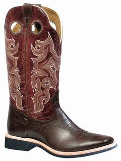 Boulet Shoulder Taurus Noce Puma Rojo Cowboy Boots - Square Toe, , hi-res