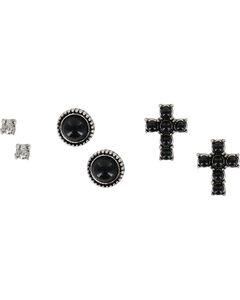 Shyanne Women's Trio Earring Set , Silver, hi-res