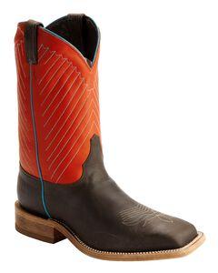 Justin Bent Rail Cowboy Boots - Square Toe, Mocha, hi-res