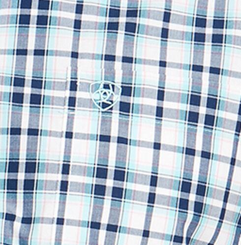 Ariat Men's Blue Nawton Short Sleeve Shirt , Navy, hi-res