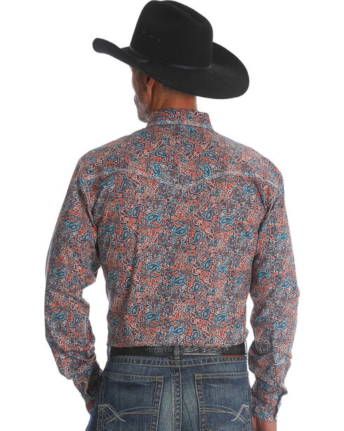 Wrangler 20X Men's Paisley Advanced Comfort Competition Shirt - Tall, Multi, hi-res