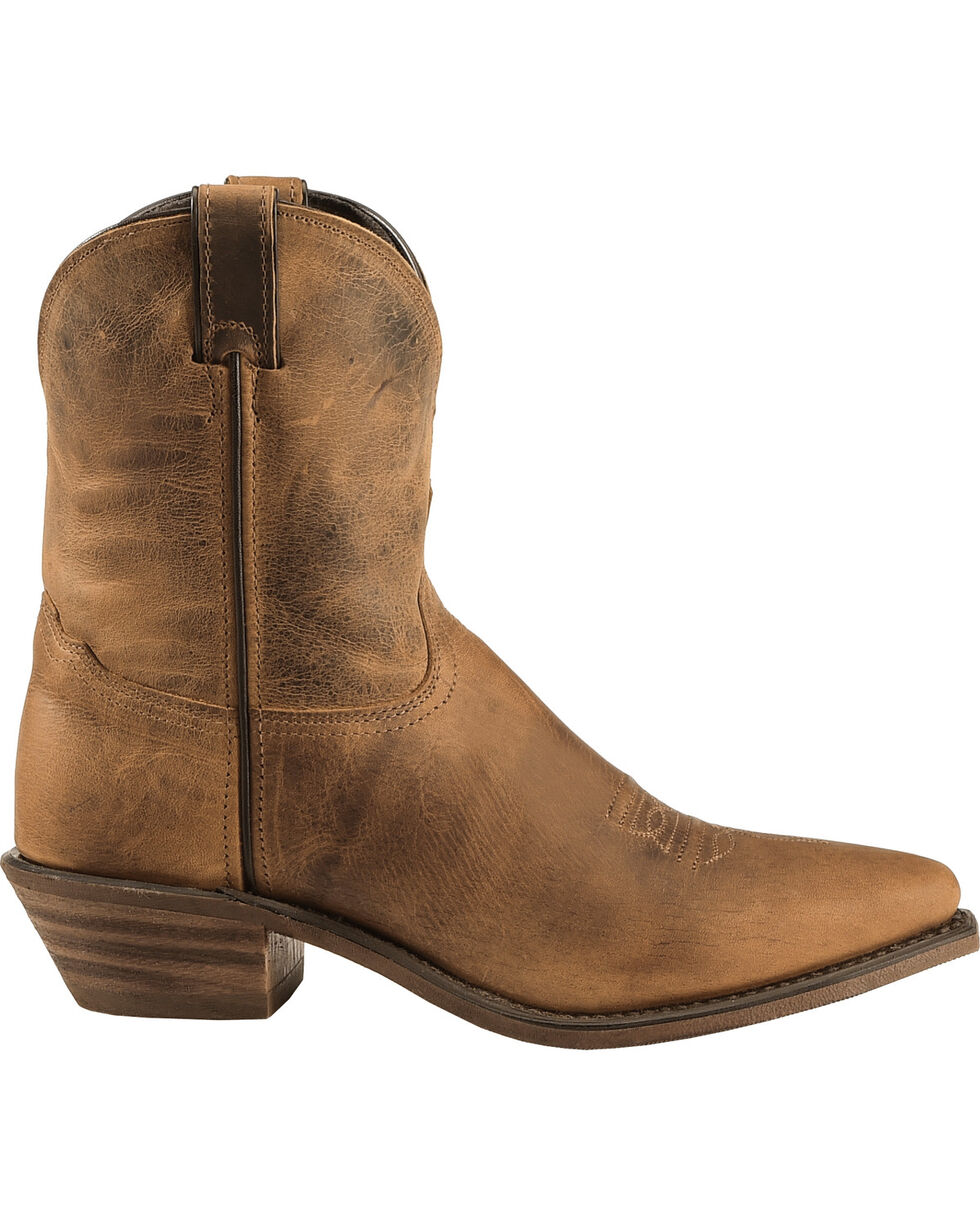 "Abilene Distressed Brown 7"" Cowgirl Boots - Snip Toe , Brown, hi-res"