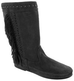 Minnetonka Women's Luna Fringe Boots, , hi-res