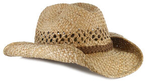 Cody James Seagrass Straw Cowboy Hat, Natural, hi-res