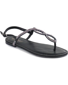 Shyanne Women's Bling Loop Sandal, Black, hi-res