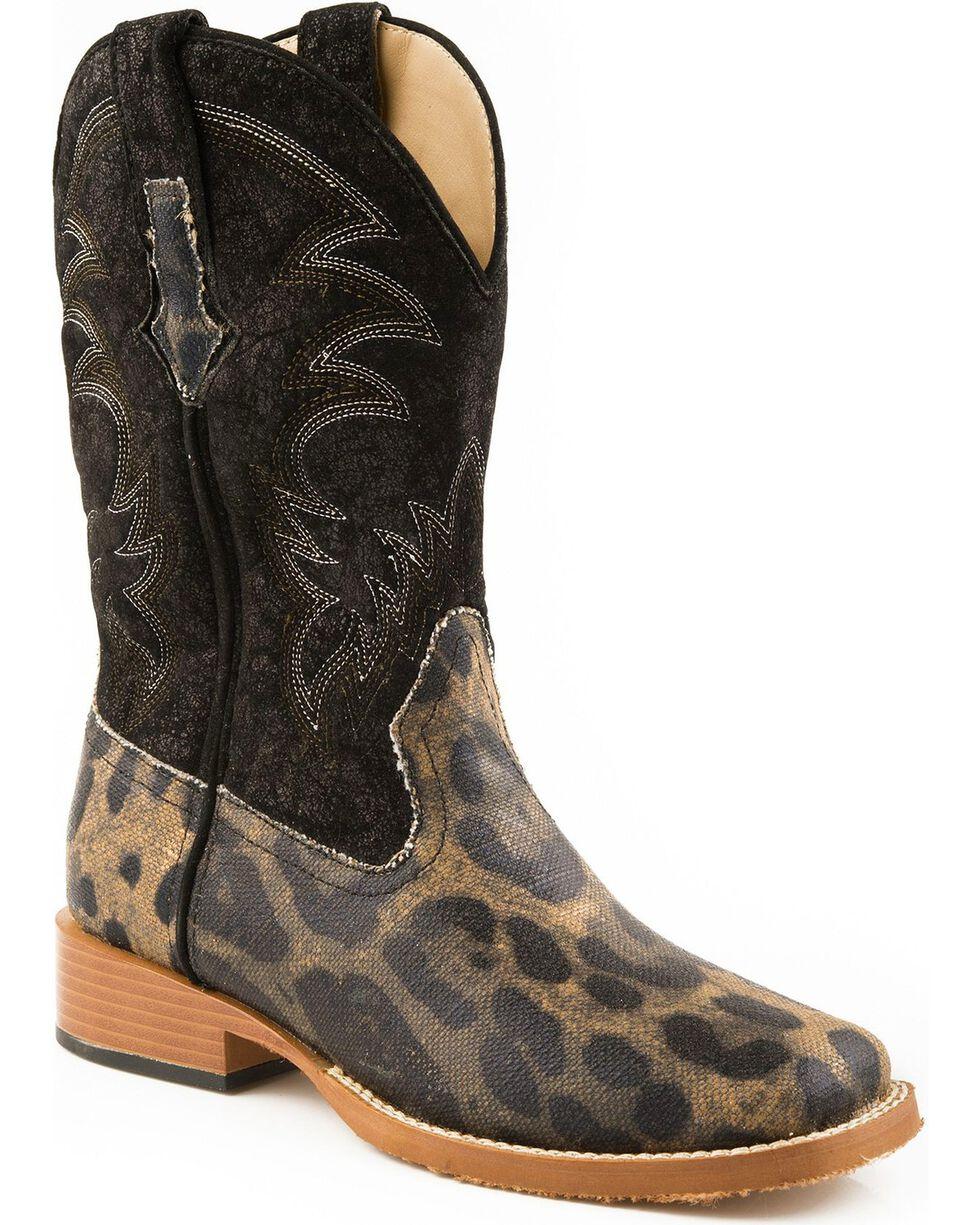 Roper Women's Leopard Print Cowgirl Boots - Square Toe, Leopard, hi-res