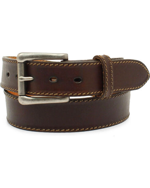 Nocona Men's Ocala Chocolate Oil Tanned Leather Belt, Chocolate, hi-res