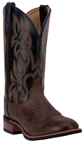 Laredo Men's Goshen Brandy Saddle Vamp Western Boots - Round Toe, Brandy, hi-res