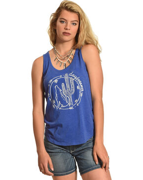 Cowgirl Justice Women's Day Dreamer Tank, Bright Blue, hi-res