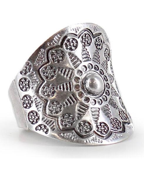 Shyanne Women's Sunshine Western Ring , Silver, hi-res