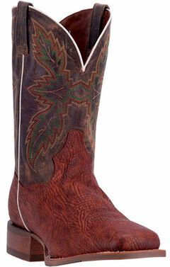 Dan Post Men's Cognac Clark Cowboy Boots - Broad Square Toe, , hi-res