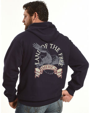 Cody James Men's Land of the Free Hoodie, Navy, hi-res