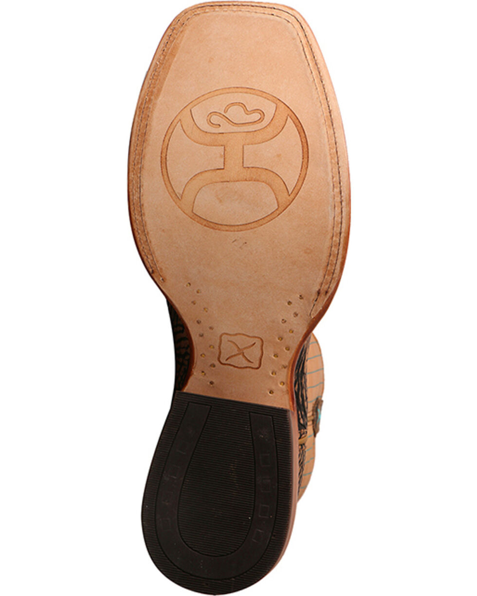 Hooey by Twisted X Men's Brown Logo Cowboy Boots - Square Toe , Brown, hi-res