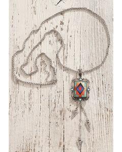 Shyanne Women's Multi-Arrow Aztec Necklace, Silver, hi-res