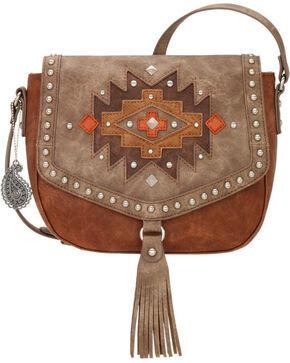 Bandana by American West Earth Bound Crossbody Bag , Rust Copper, hi-res
