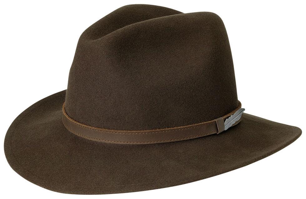 Black Creek Men's Brown Crushable Wool Hat, Brown, hi-res