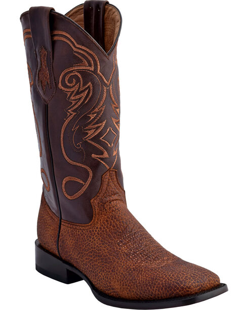 Ferrini Men's Bullhide Print Western Boots - Square Toe , , hi-res