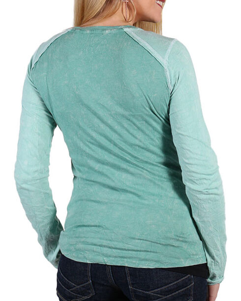 Panhandle Women's Sage Crossroads Graphic Shirt , Sage, hi-res