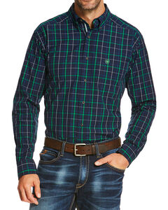 Ariat Men's Indigo Overton Long Sleeve Shirt , , hi-res