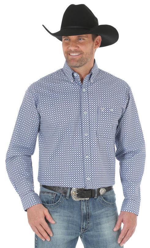 Wrangler 20X Men's Blue/Light Blue Advanced Comfort Competition Shirt - Big & Tall, Blue, hi-res
