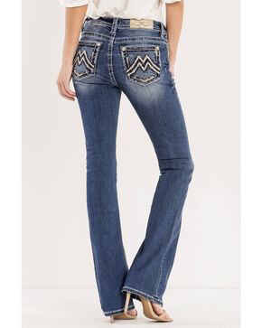 Miss Me Women's Indigo MM Moves Jeans - Boot Cut , Indigo, hi-res