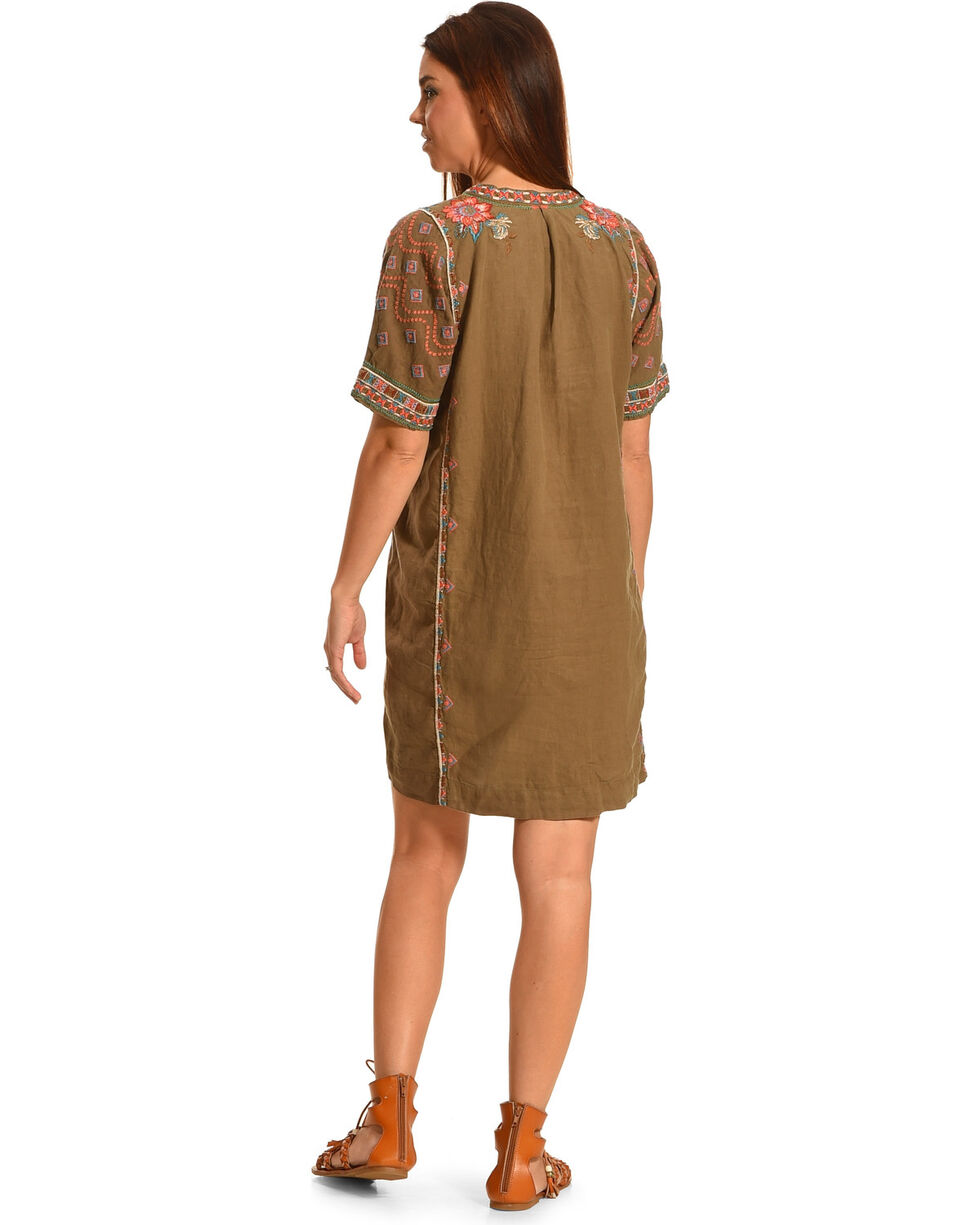 Johnny Was Women's Cortez Short Sleeve Easy Tunic , Brown, hi-res