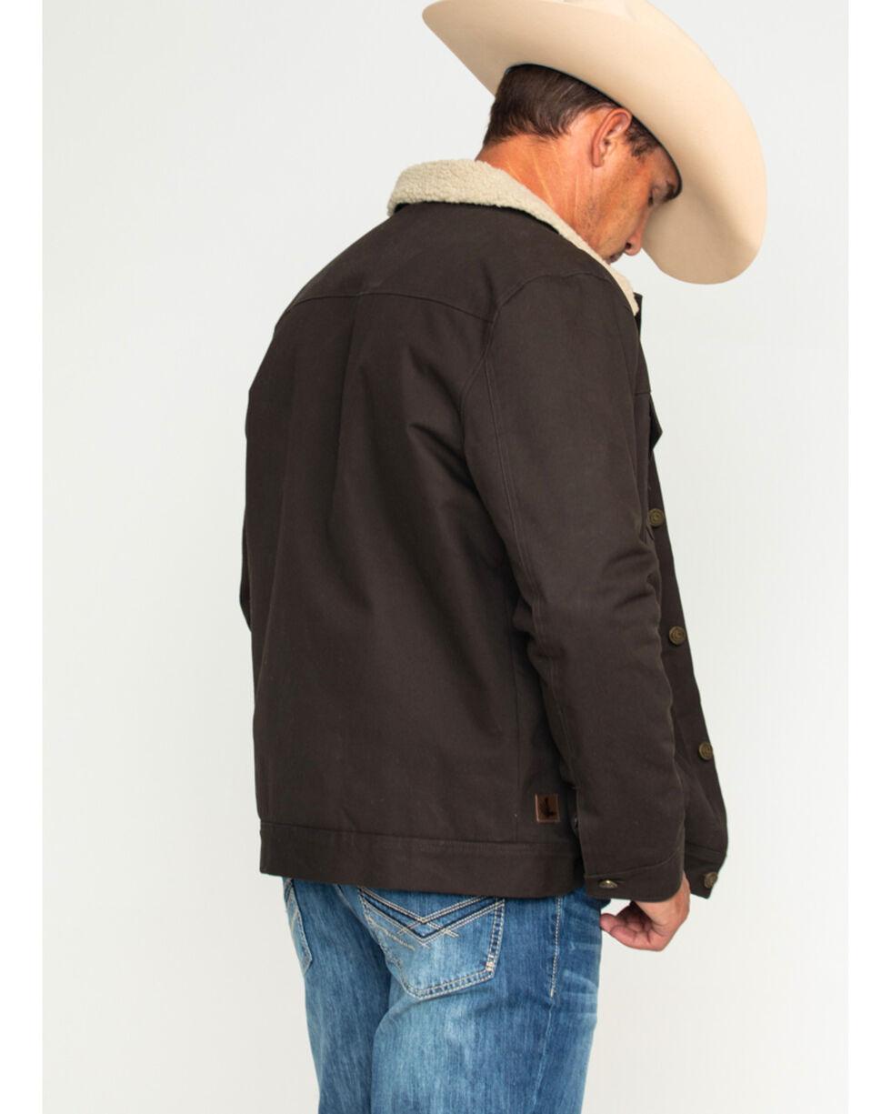 Cody James Men's Freight Liner Canvas Jacket, Brown, hi-res